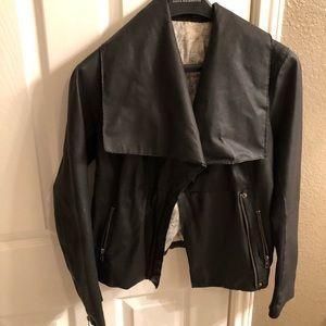 Anthropologie black soft leather Cartonnier s/m